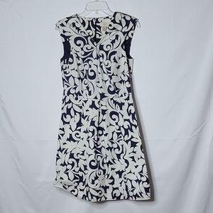 Ann Taylor Loft vneck sleeveless fit flare dress 6